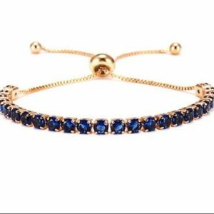 ❤️gorgeous sapphire rhinestone adjustable bracelet